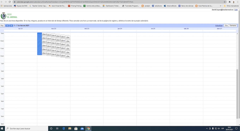 Buenas tardes, ¿Alguien sabe si se  puede modificar la vista de la página de citas de Calendario?.