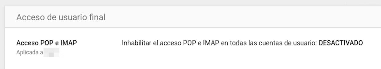 Consultar Gmail de la GSuite en Gmail personal. No somo capaces de dar de alta el correo electrónico del dominio para poderlo consultar y enviar correos desde el gmail personal. Los MX están en la DNS del dominio y este por si sólo envía correo y recibe perfectamente. Gracias por anticipado. Adjunto capturas de configuración y del error.