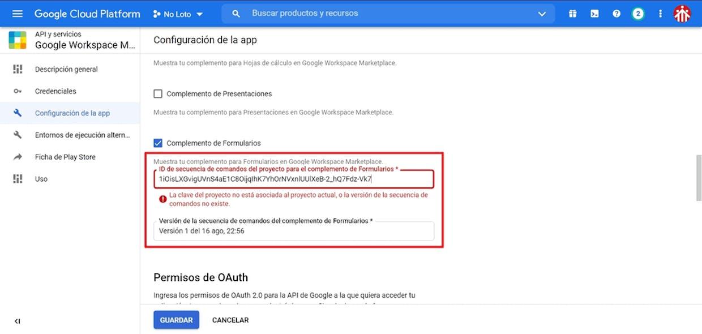 ¿Cómo convertir un script GAS en complemento para Google Form?