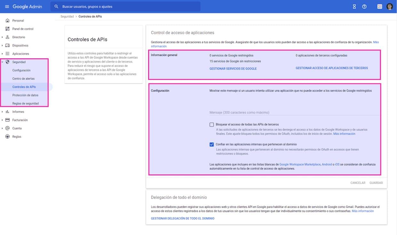 Quienes administráis G-Workspace, ¿permitís la instalación de complementos para todo el dominio?