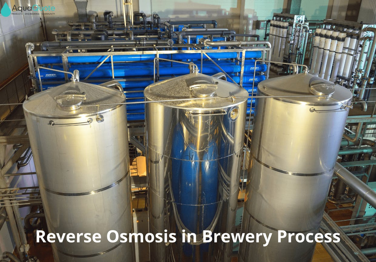 Breweries use reverse osmosis to improve incoming water quality and reduce wastewater