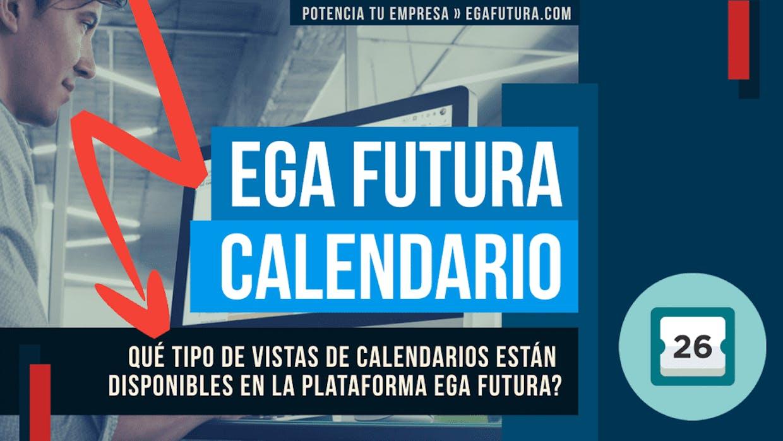 Qué tipo de Vistas de calendarios se pueden usar dentro del sistema de gestión empresarial en la nube?