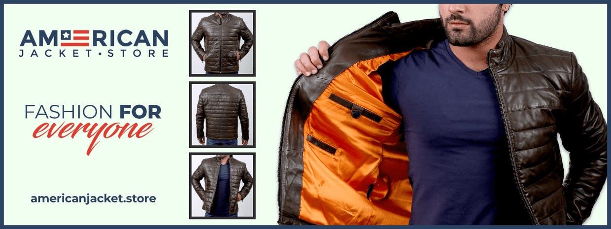 The American Jacket Store is notable for its performance among online