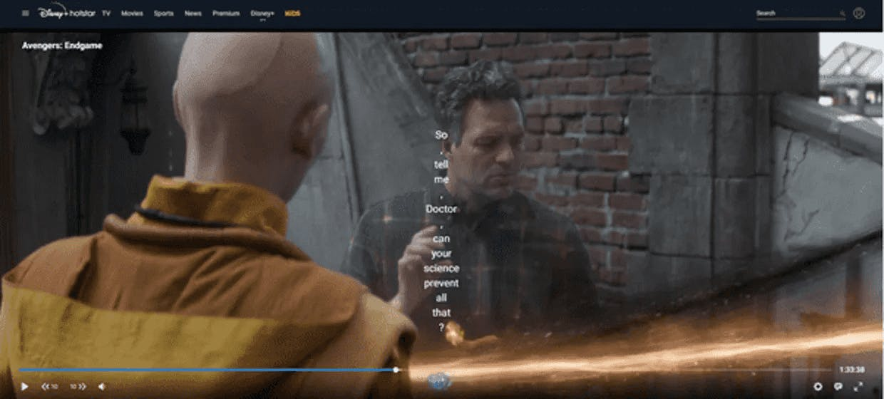The subtitles are split apart when I try to manually integrate this website.