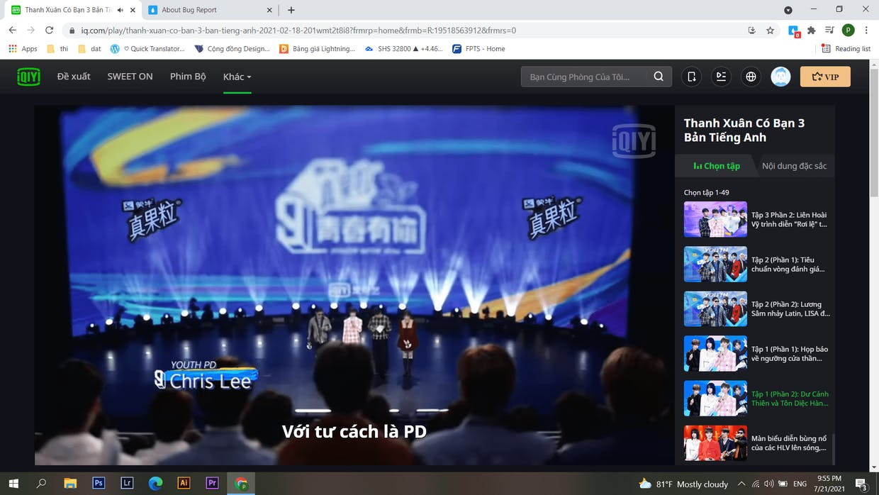When the extension turn off it have the original subtitles of website