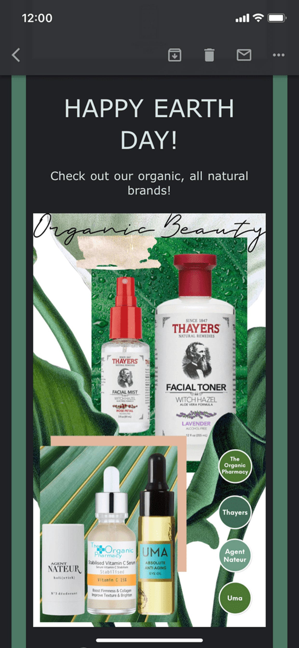 I actually use Thayers, it's great to know they are all natural.