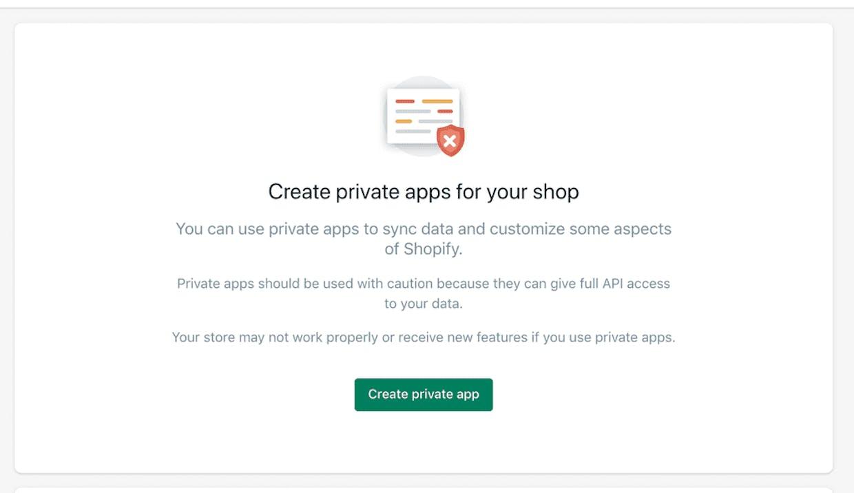 Create a Private App