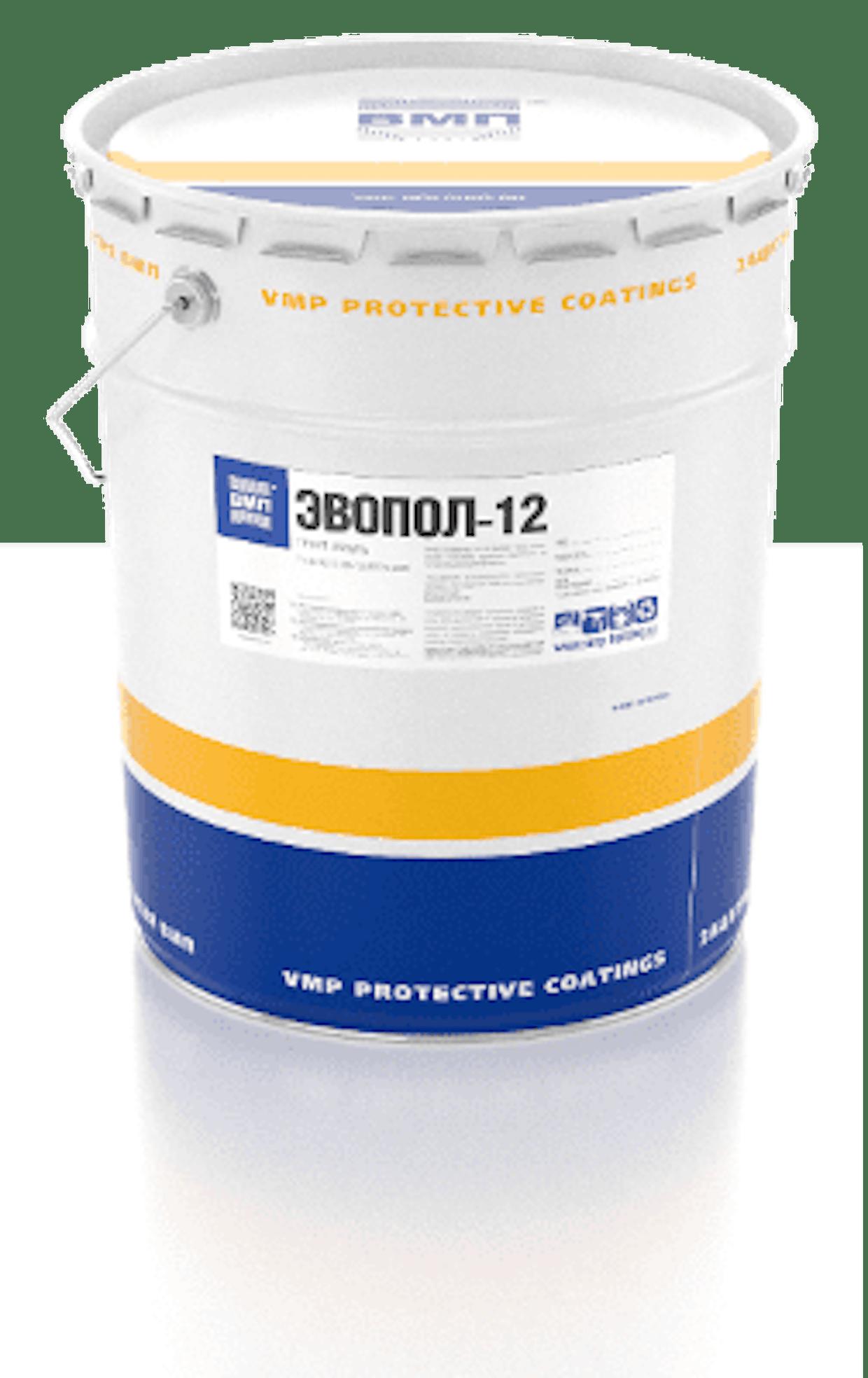 Грунт-эмаль ЭВОПОЛ–12 для защиты металла и бетона