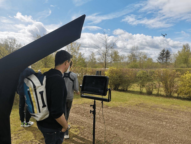 behind the scenes of our german TV shoot
