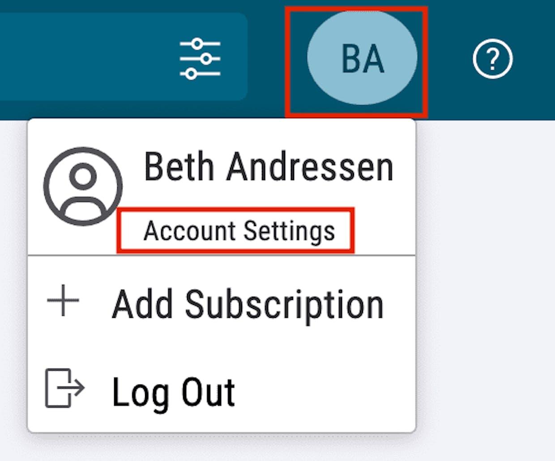 Navigate to 'Account Settings'.