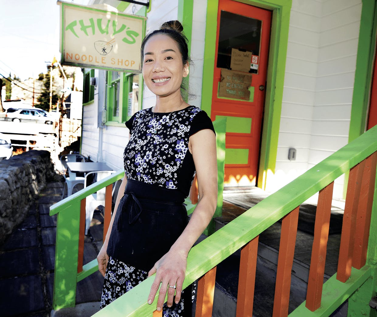 Thuy's owner Thuy Bang stands in front of her Bisbee restaurant.