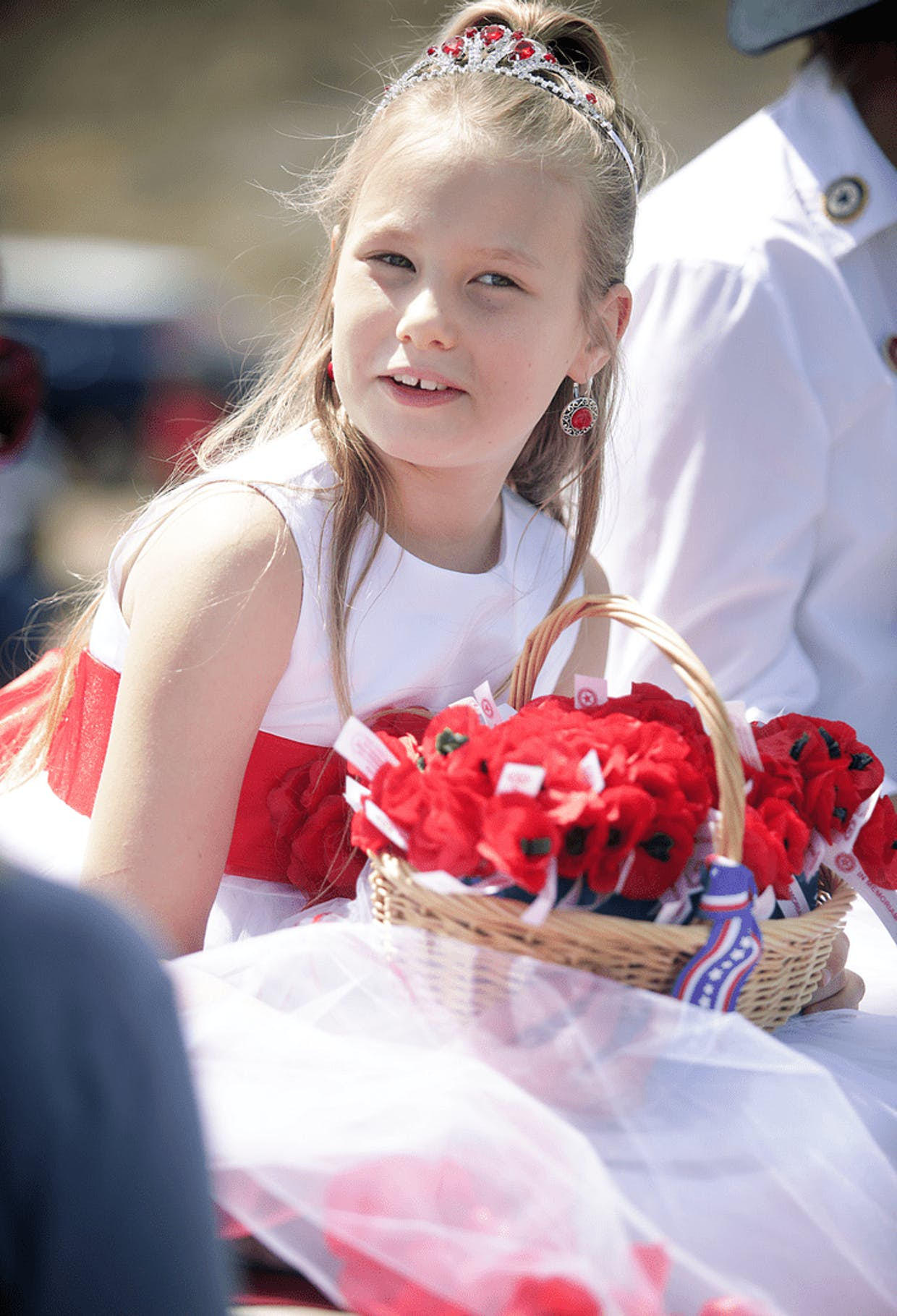 Tombstone Rose Parade Poppy Princess Piper Leavere, 8, prepares to join in on Saturday's annual event.