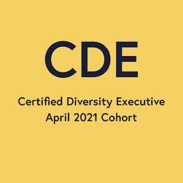 Certified Diversity Executives April 2021