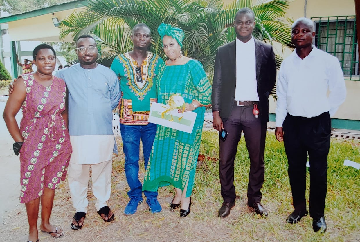 Witnesses, our Lawyer and Ghana Counselor.