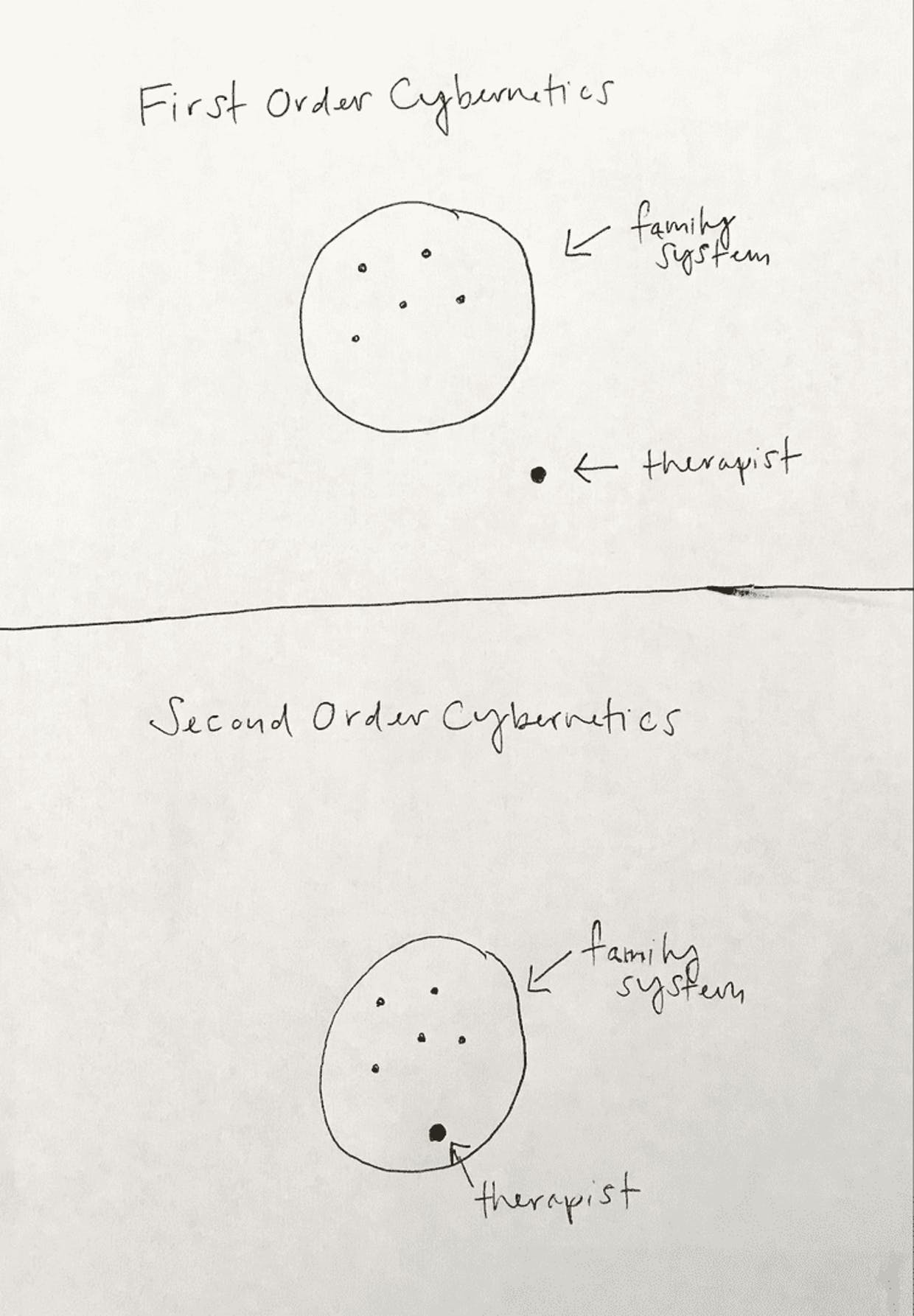 Visual of First and Second Order Cybernetics