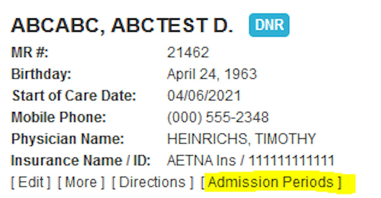 Hi Christine! Look at the ADMISSION PERIODS that you can find in the patient chart section as i screenshotted above. Once you do that, check that each admission period only has the episodes that belong...click on the plus sign to the left to open them up. Let me know if this helps or if you have further questions.