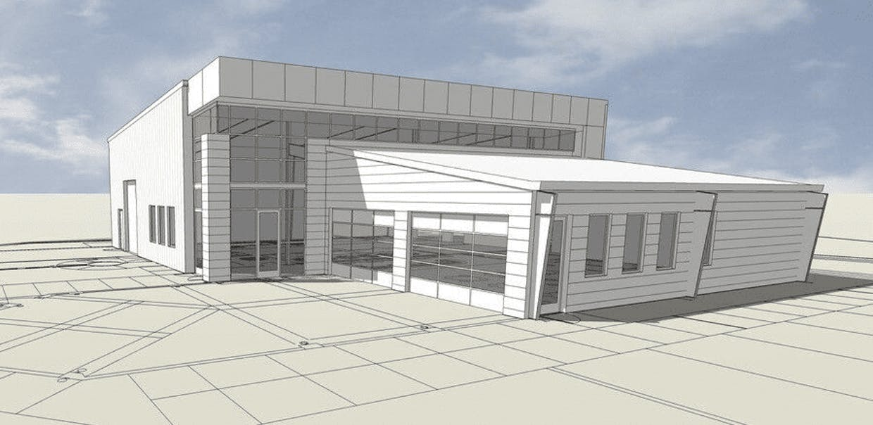 Artist's rendering of the proposed Madera Canyon Brewery.