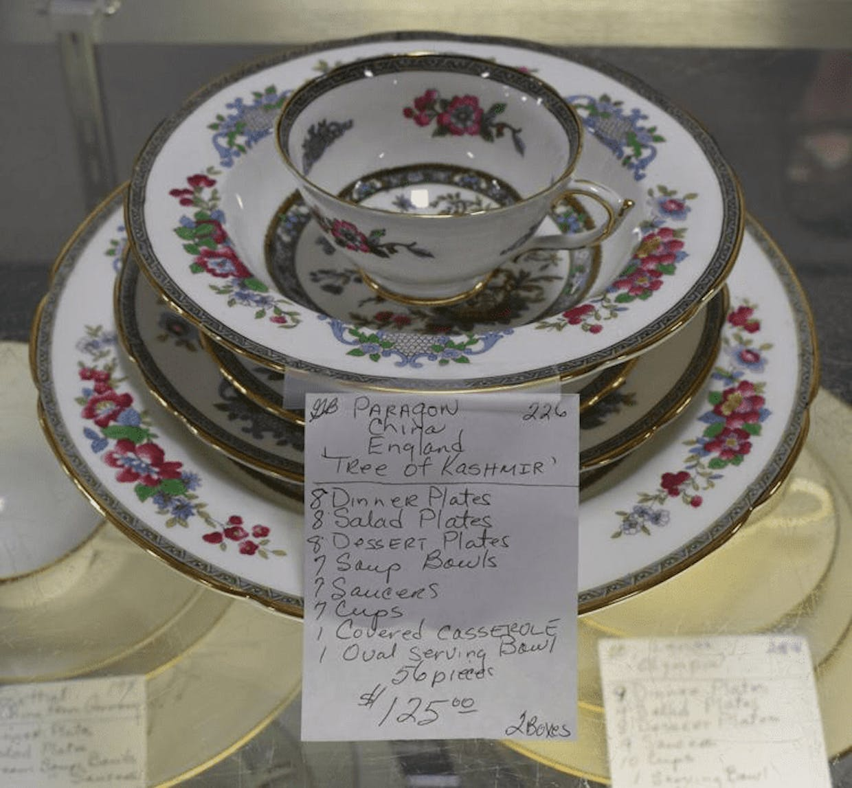 A set of Paragon China at the White Elephant thrift store