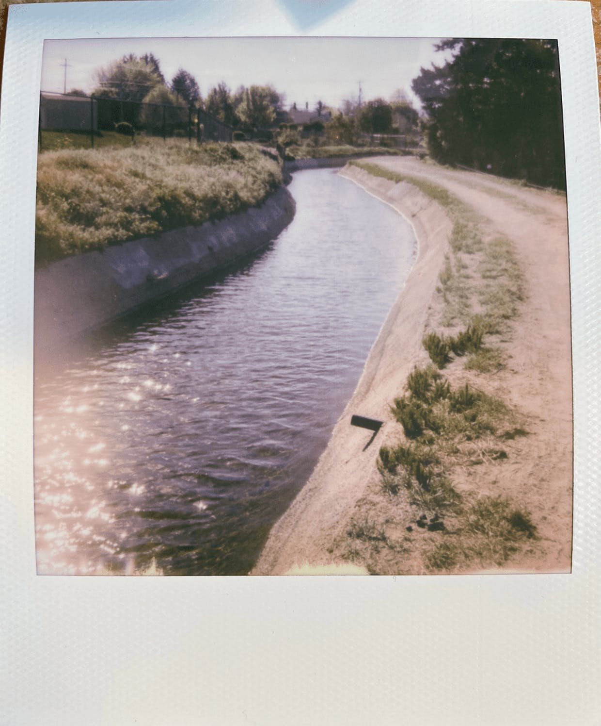 The canal along 11th Street in East Wenatchee