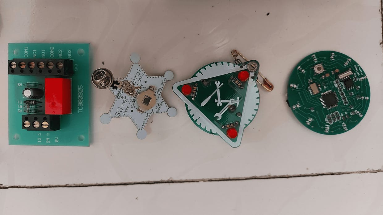 Different badges and Relay Board