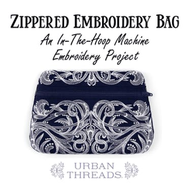 Zippered Embroidered Bags: An In-The-Hoop Machine Embroidery Project on 05-26