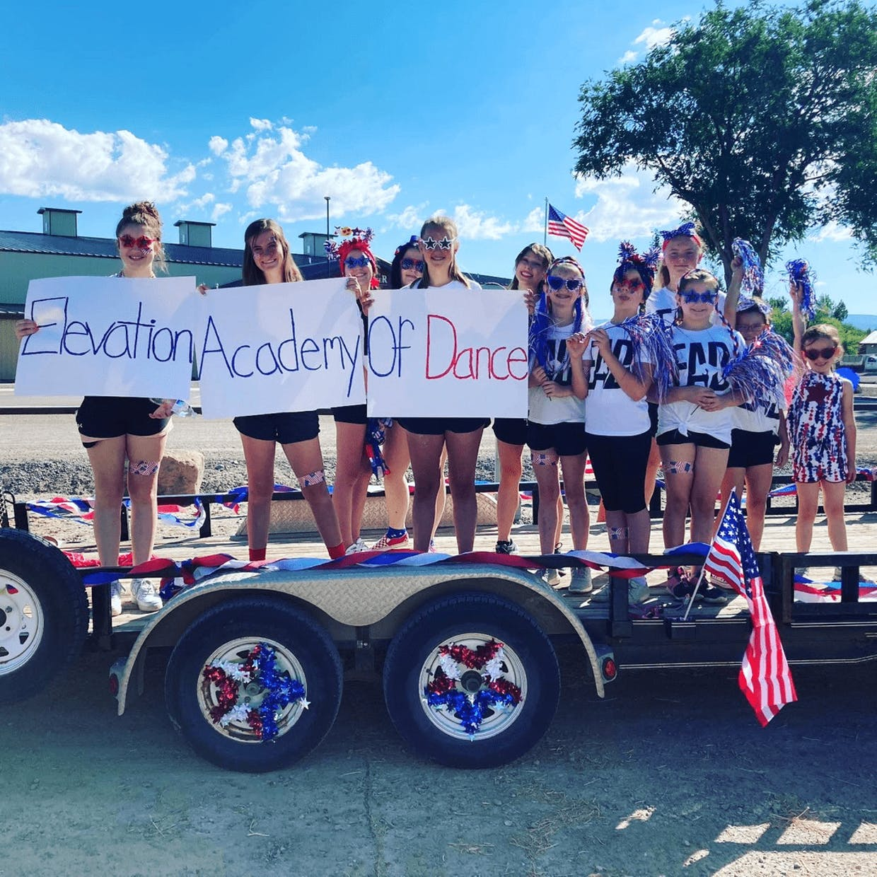Elevation Academy of Dance Company Dancers before the Independence Day Parade In Montrose!