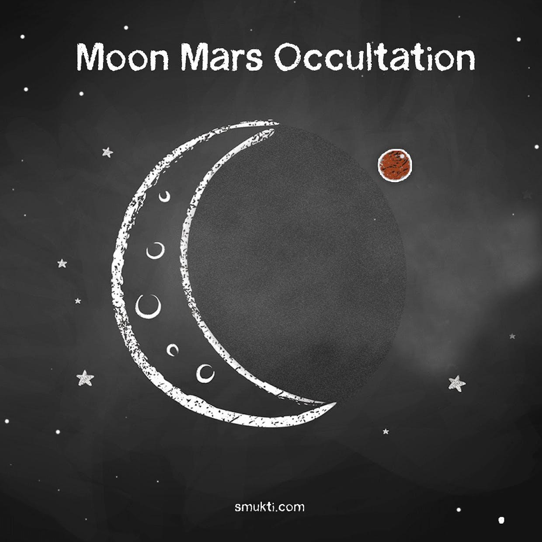 Moon-Mars Occultation Image on