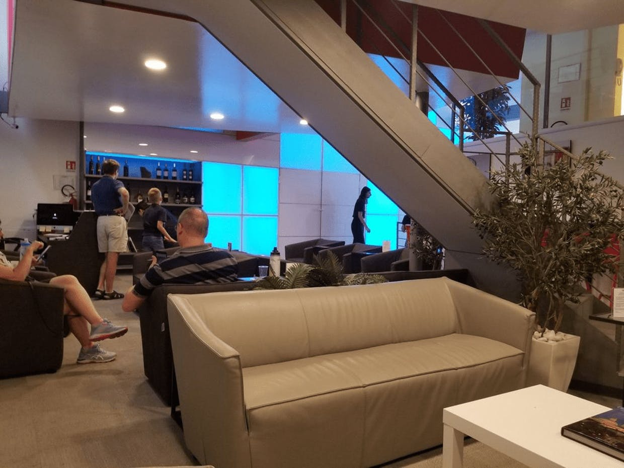 A view from inside the ItaliaPass members-only lounge at Rome's Termini station