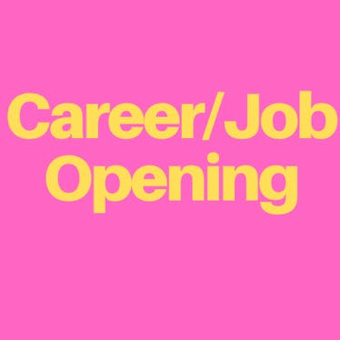 Career/Job Opening