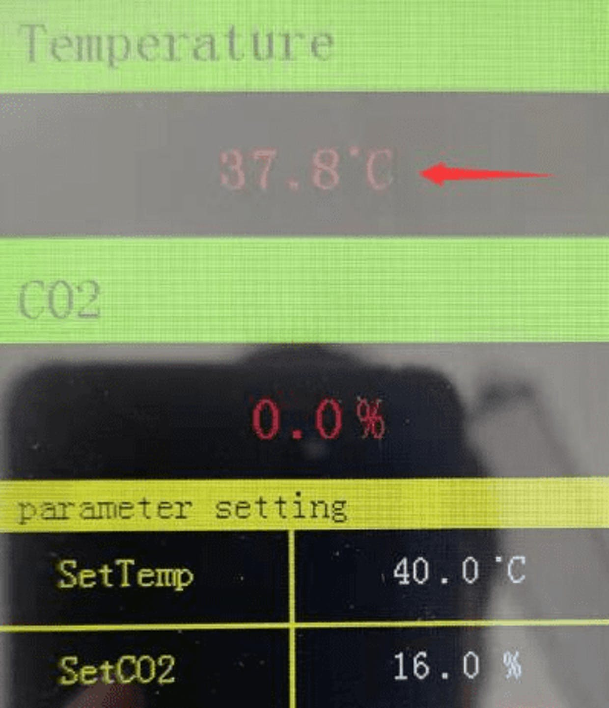 When updating temperature data, display flicker