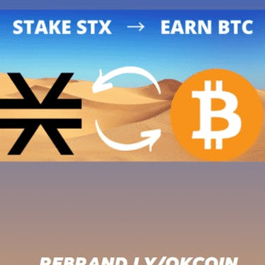 STX - Earn BTC by Stacking Stacks