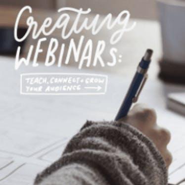 From the blog: Creating Webinars
