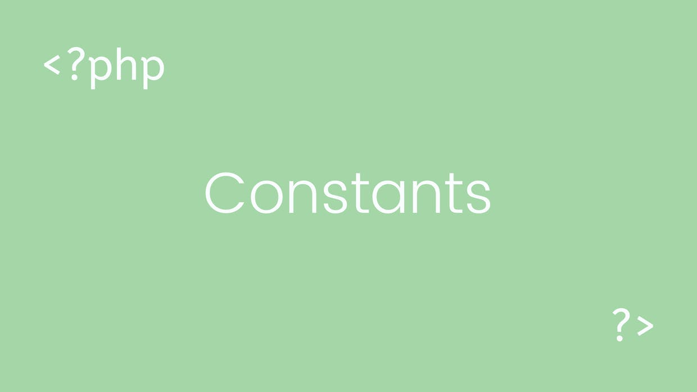 PHP konstantalar