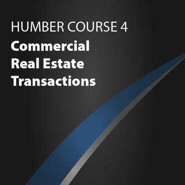 Course 4: Commercial Real Estate Transactions