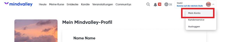 Wie kann ich meine Profil-Daten aktualisieren?