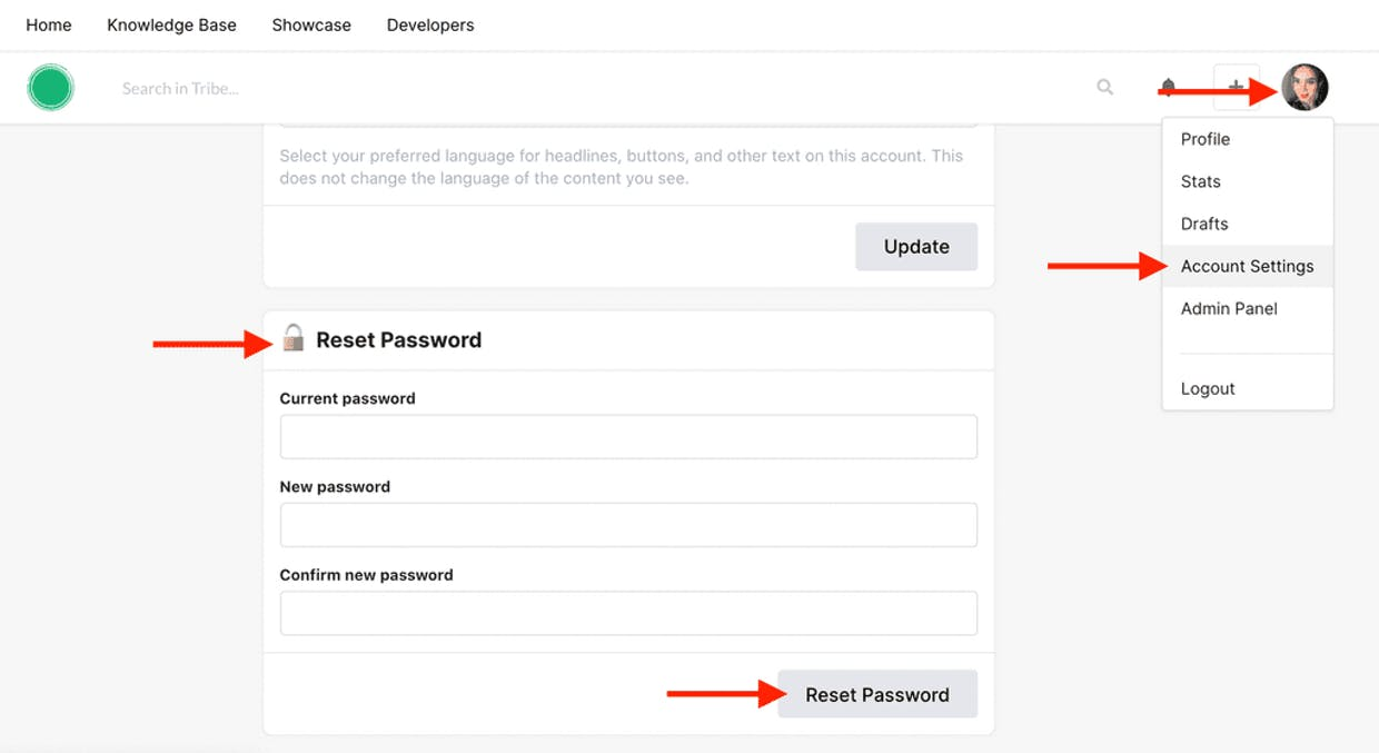 Is it possible to reset a member's password? If not can this be added to the roadmap?