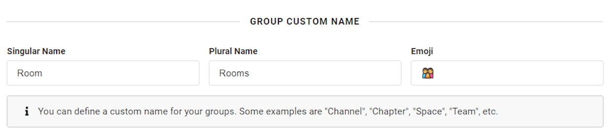Change What your group is called