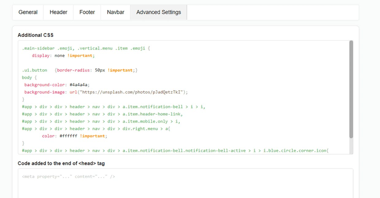 My CSS settings don't work. Why is that? I have tried to copy and paste many different settings and none worked.