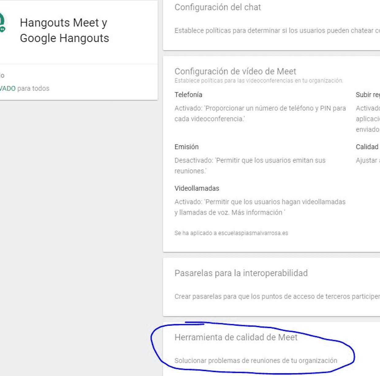 Buenas tardes. Me gustaría saber si como administrador de Gsuite hay alguna opción para hacer una auditoría a una reunión específica de Google Meet. Saber qué alumnos entraron y en qué momento por ejemplo. Muchas gracias y saludos.