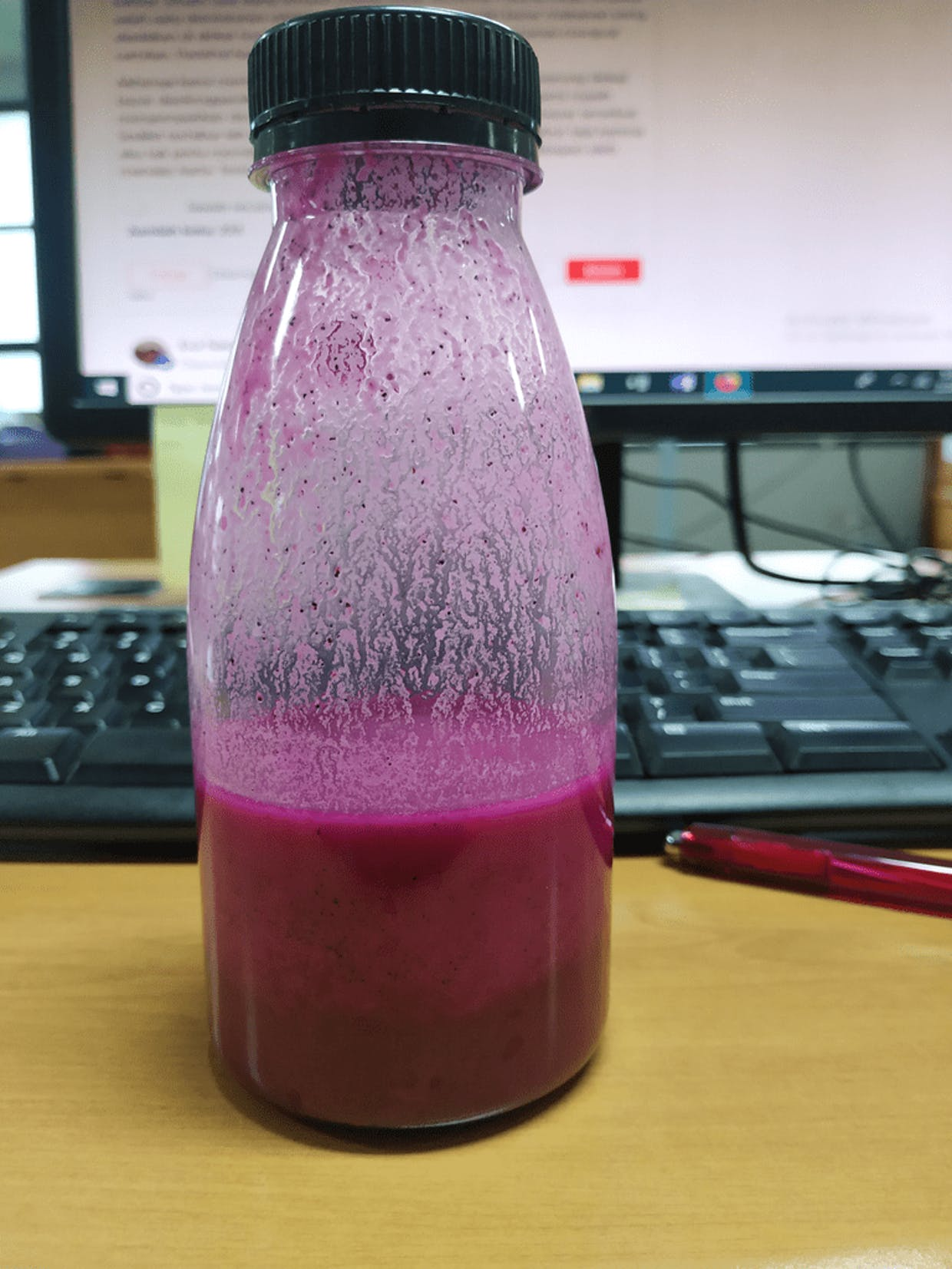 Jus Buah Naga. Photo by me.