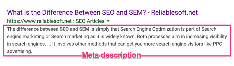 Thẻ mô tả SEO (Meta description)