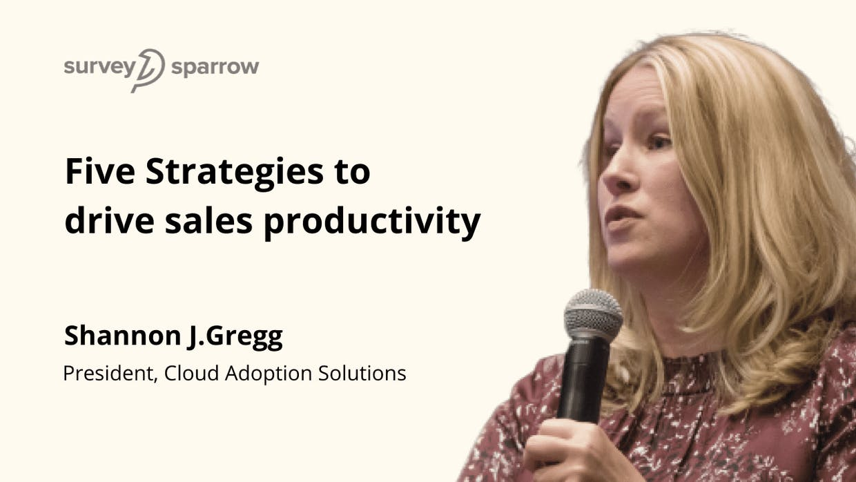 5 Thought-Provoking Strategies to drive sales productivity