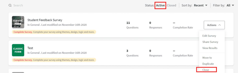 How do I rename my survey? How do I delete a survey?