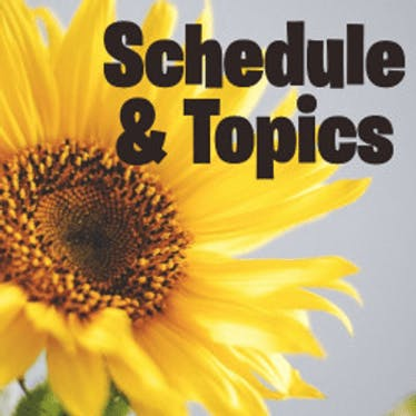 Mastermind Topics and Schedule