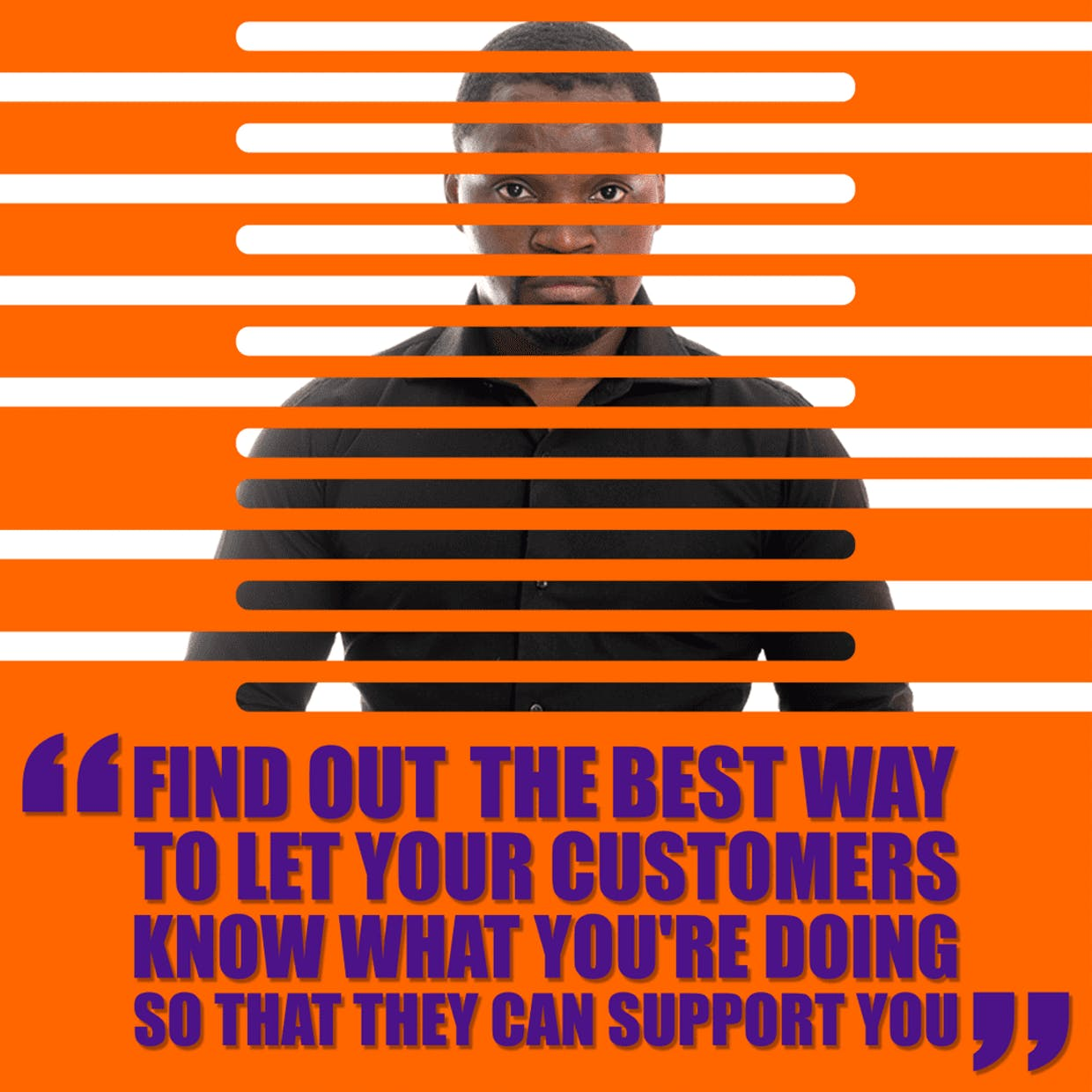 Don't behind your brand- show up and help people by actually helping them.