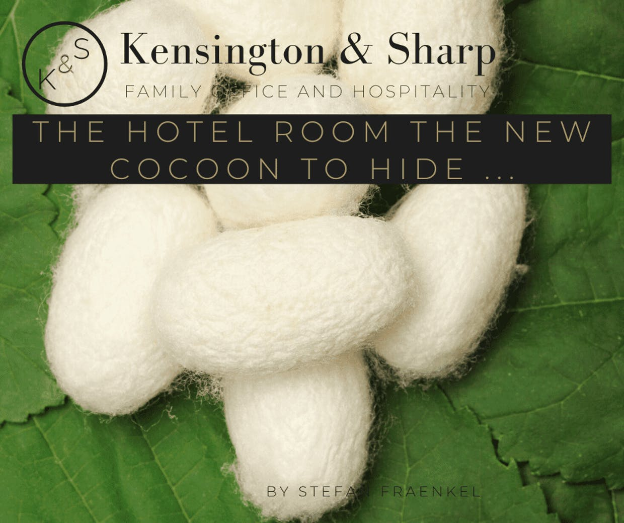 The hotel room the new cocoon to hide ... By Stefan FRAENKEL