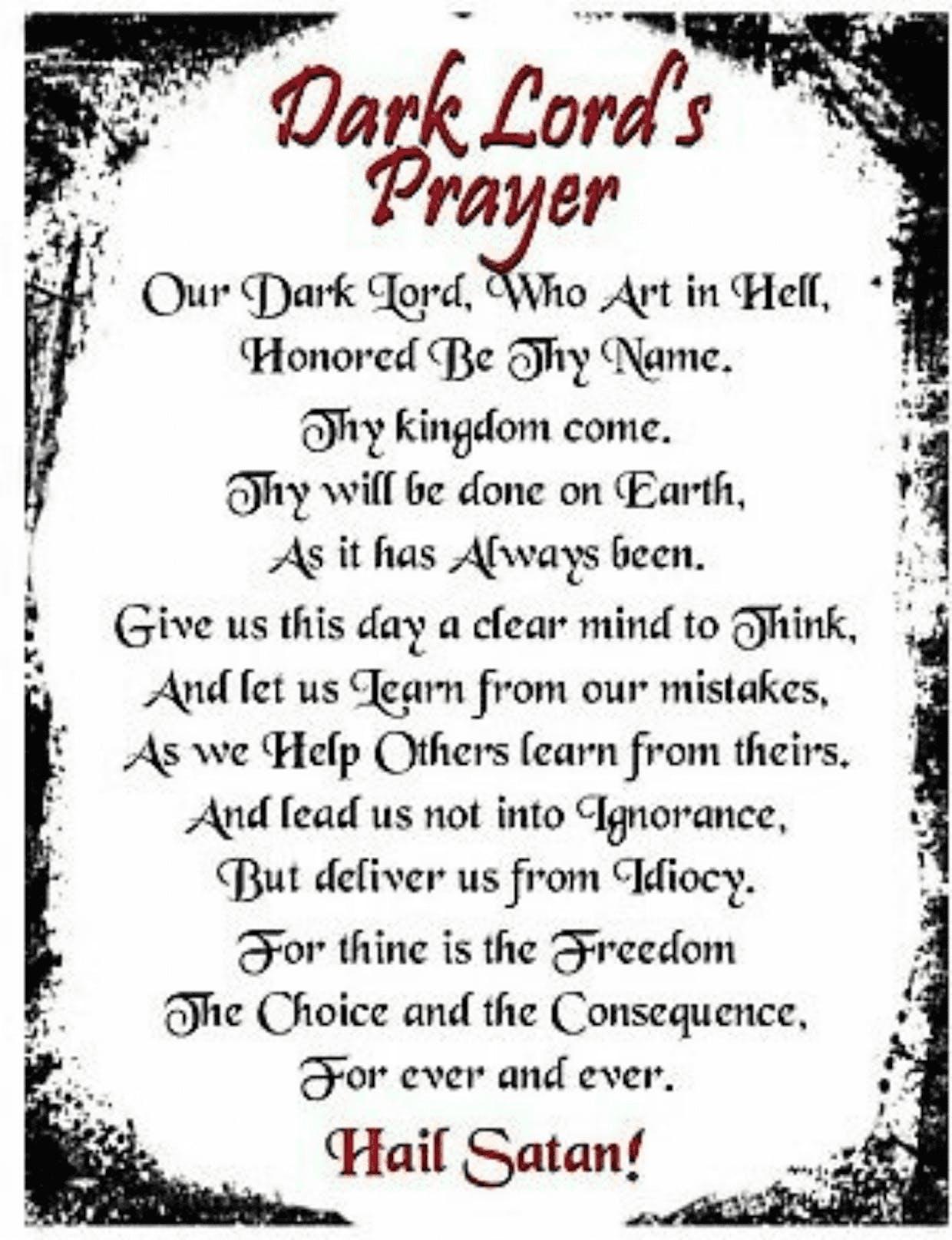 Dark Lord`s Prayer