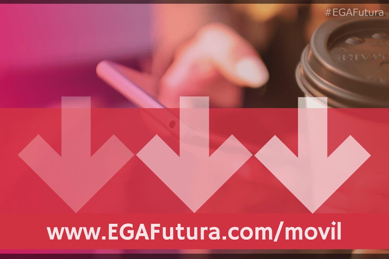 Cuales son las instrucciones para instalar la aplicación móvil de EGA Futura en mi teléfono?