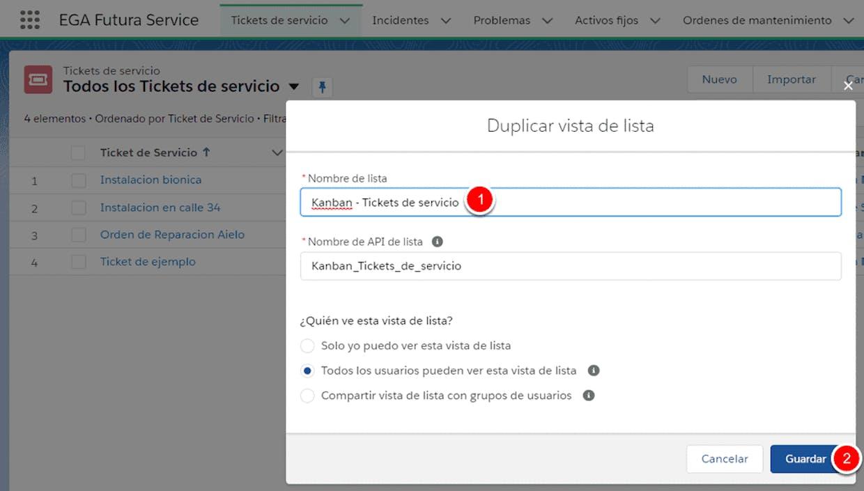 Como hago para que en la vista Kanban de Tickets de servicio me aparezca el nombre del cliente (la cuenta) como muestra la imagen?