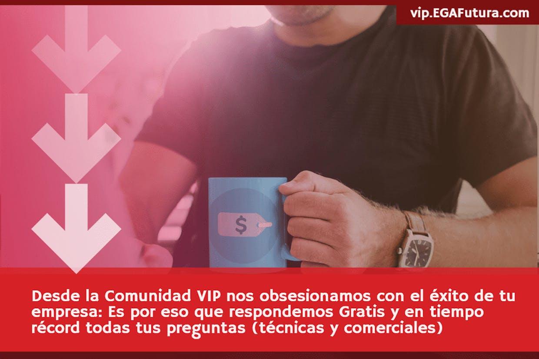 Desde la Comunidad VIP, nos obsesionamos con el éxito de tu empresa: Es por eso que respondemos Gratis y en tiempo récord todas tus preguntas (técnicas y comerciales)